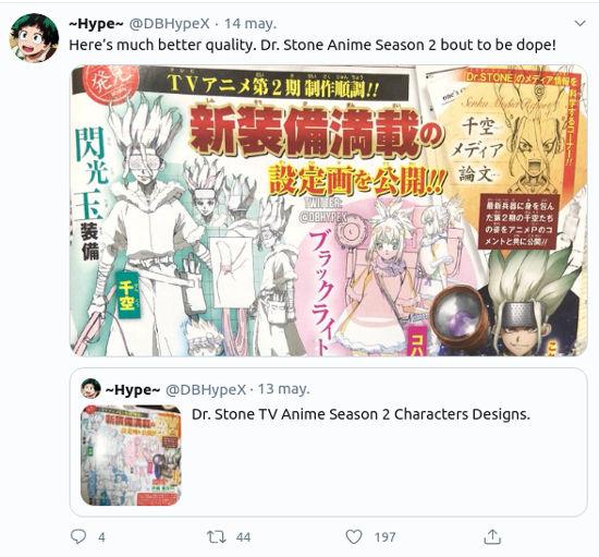 Así se verán Senku y compañía en la Temporada 2 de Dr. Stone