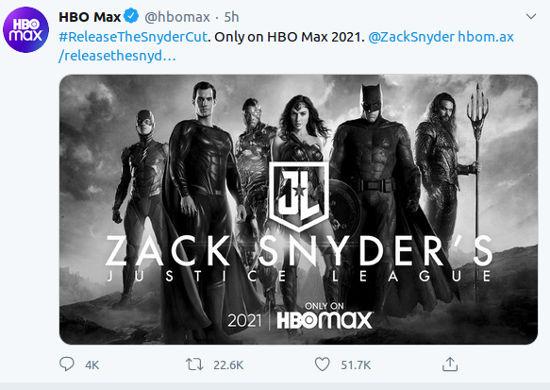 El Snyder Cut de Justice League estará en HBO Max