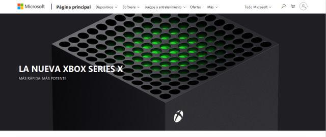 Aparece posible sitio de preventa de Xbox Series X