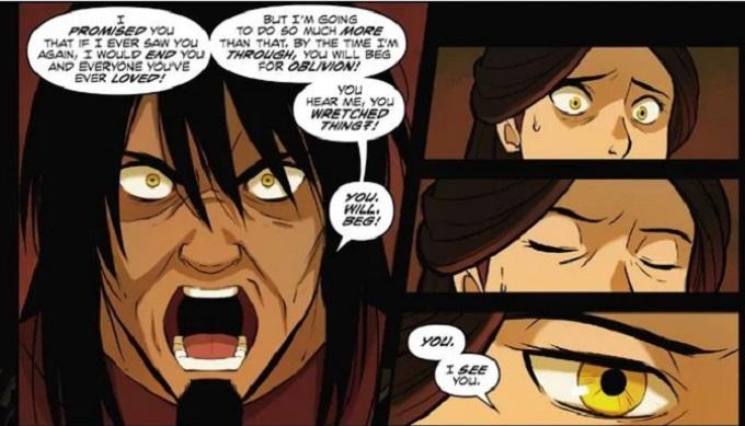 La mamá de Zuko enfrenta a Ozai en Avatar
