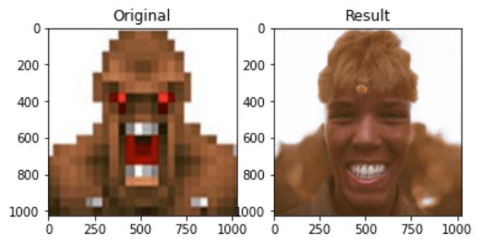 Imagen Realista de un personaje del videojuego Doom