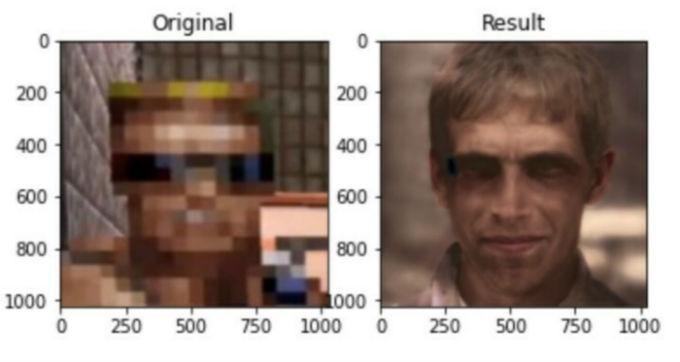 Rostro realista del videojuego Duke Nukem
