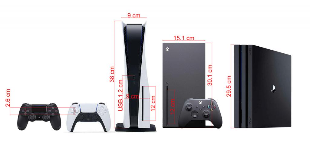 PS5 tamaño