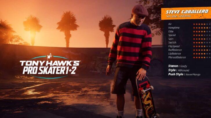 Steve Caballero en Tony Hawk's Pro Skater 1 y 2