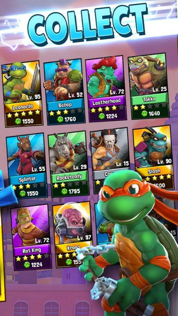 Imagen del nuevo videojuego de las Tortugas Ninja para celulares