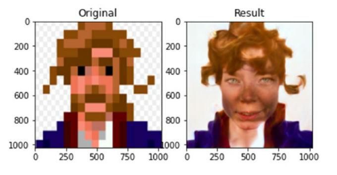 Rostro realista de guybrush del videojuego Monkey Island.
