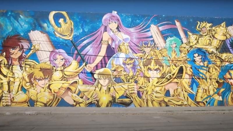 Mural Saint Seiya