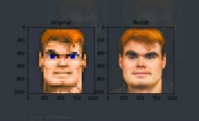 Rostro realista del protagonista de Wolfenstein.