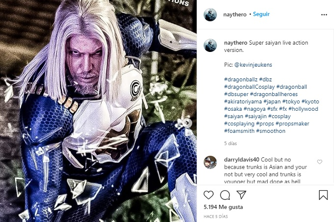 Cosplay de Trunks del Futuro en Dragon Ball