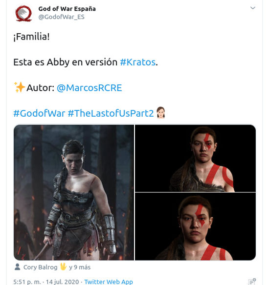 Así se verían Jill de Resident Evil y Abby de The Last of Us Part 2 en God of War