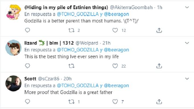 Comentarios de Twitter sobre el cortometraje de Godzilla LGBTQ