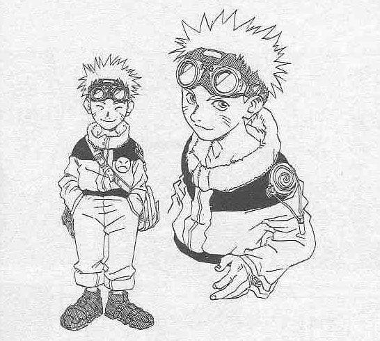 Naruto boceto inicial