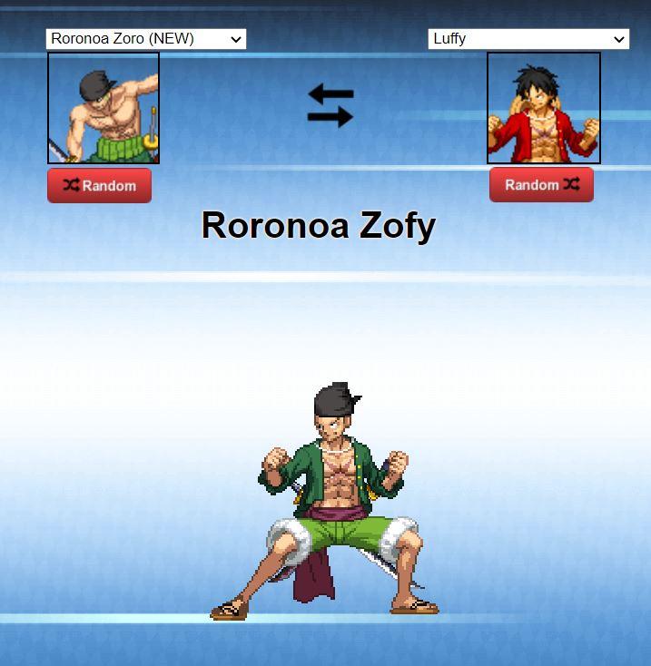 One Piece fusión de personajes.