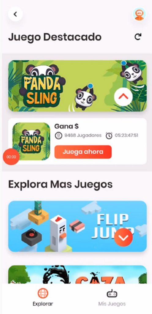 Juegos dentro de la app Rappi