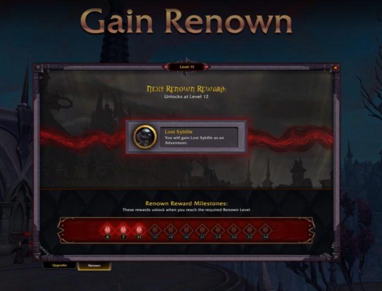 Shadowlands Renown