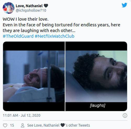 Fans emocionados por pareja LGBT+ en The Old Guard de Netflix