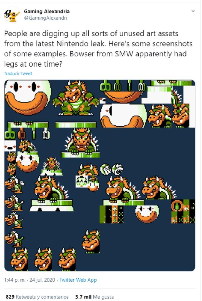 Imagen de Bowser en Super Mario World