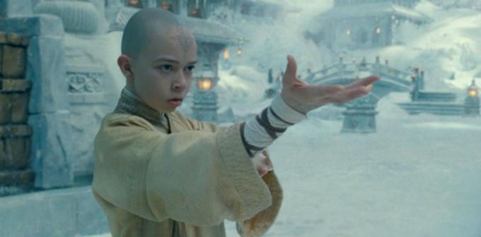 Aang en la pelicula de Avatar