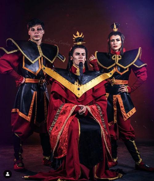 Avatar: La Nación del Fuego consigue un triple cosplay
