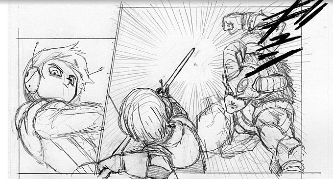 Meerus pelea con Moro en el manga de Dragon Ball Super