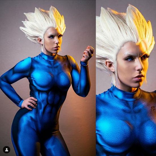 Dragon Ball Z: Super Saiyajin Vegeta cambia de sexo en un genial cosplay