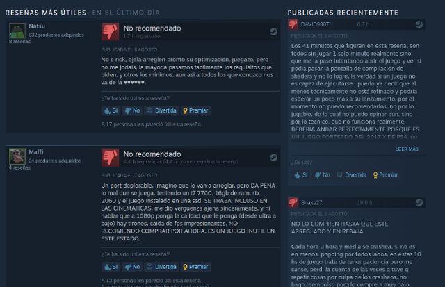 Horizon Zero Dawn en PC recibe críticas de los jugadores