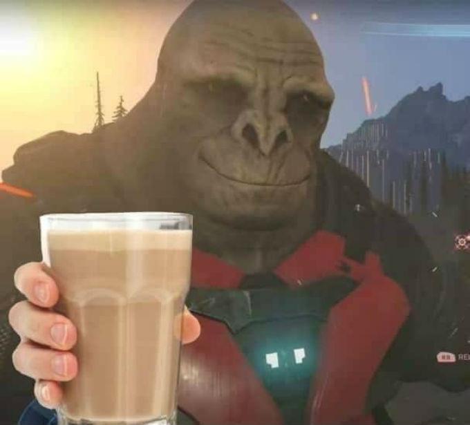 Craig de Halo con un Chocomilk