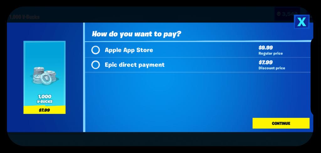 Apple retira a Fortnite de la App Store.