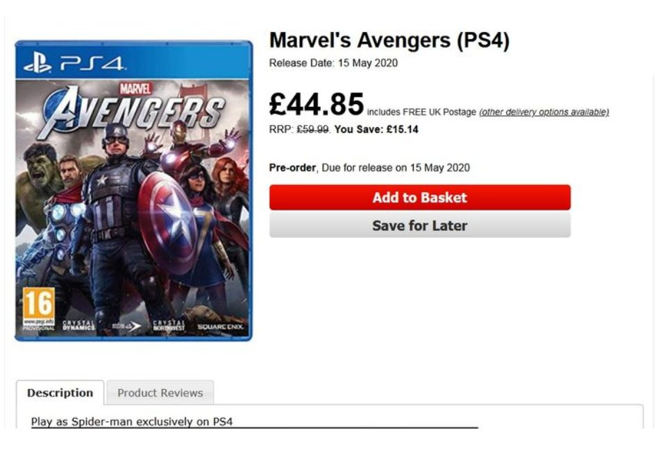 Spider-Man Marvel's Avengers PS4