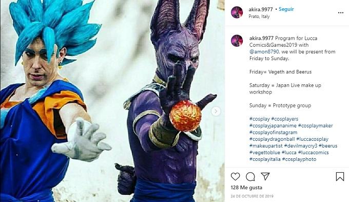 cosplay de Dragon Ball con Bills y Gogeta
