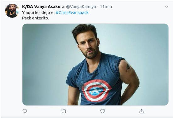 #ChrisEvansPack: El actor se hace viral por compartir su 'pack' por error