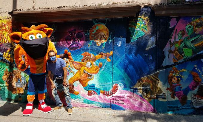 Mural de Crash en CDMX
