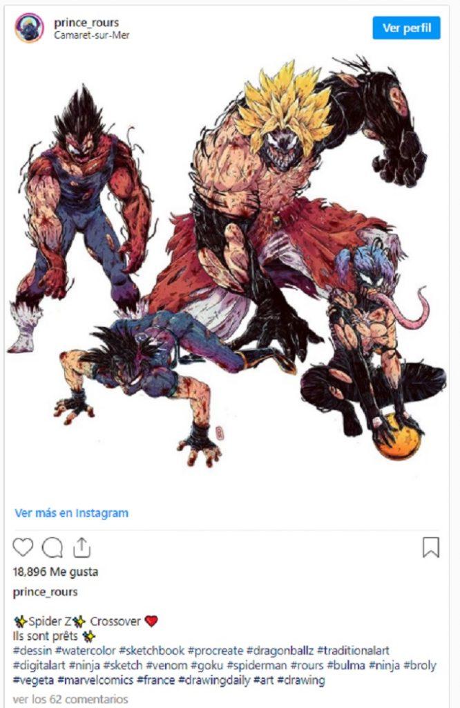 Dragon Ball crossover Venom