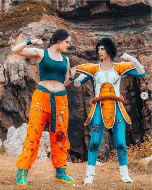 Dragon Ball Z: Goku y Vegeta cambian de sexo con el cosplay
