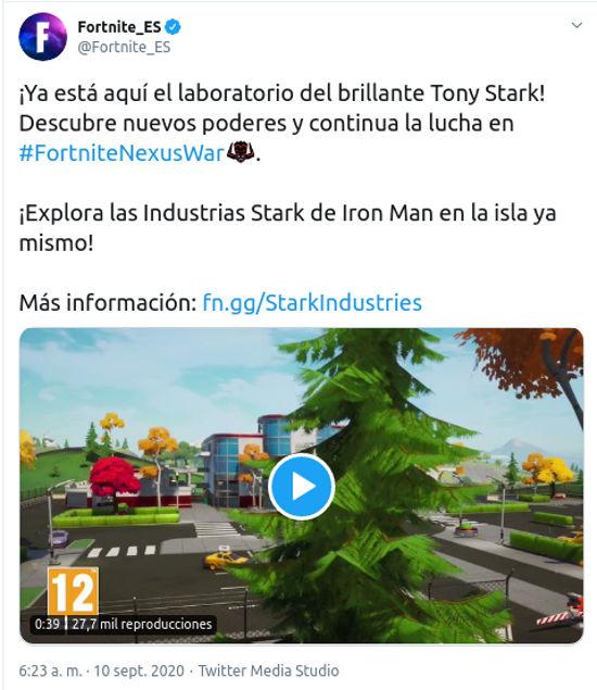El laboratorio de Iron Man llegó a Fortnite y aquí lo puedes encontrar