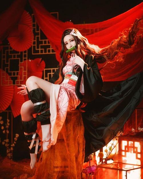 Nezuko de Kimetsu no Yaiba consigue nuevo cosplay