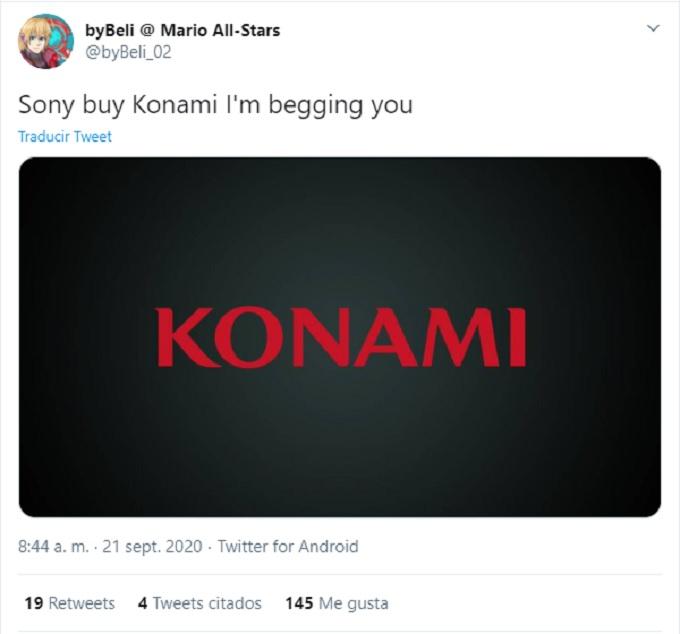 PlayStation adquiera Konami peticion