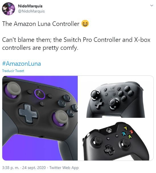 amazon luna pro controller switch