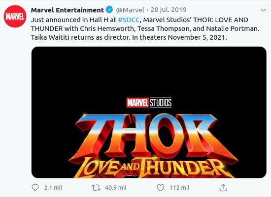 Chris Hemsworth quiere seguir en el MCU después de Thor: Love and Thunder