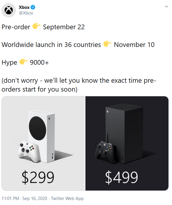 Xbox preventa Series X.