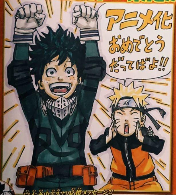 Naruto y Deku.