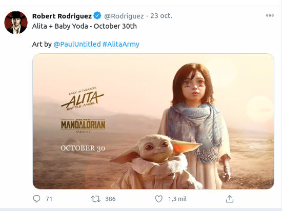 Alita: Battle Angel y The Mandalorian promocionados por Robert Rodriguez