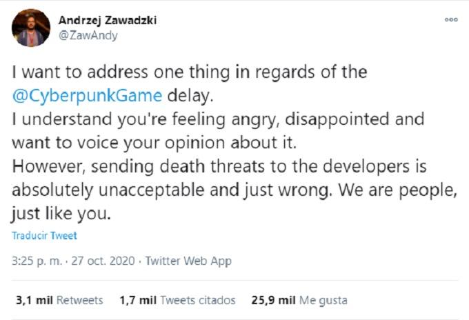 Amenazas de muerte a equipo de Cyberpunk 2077
