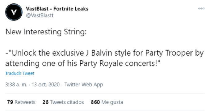 Fortnite-Concierto de J Balvin