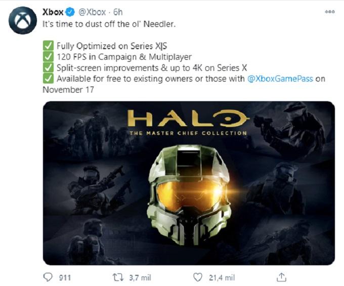 Halo Optimizado para Xbox Series X