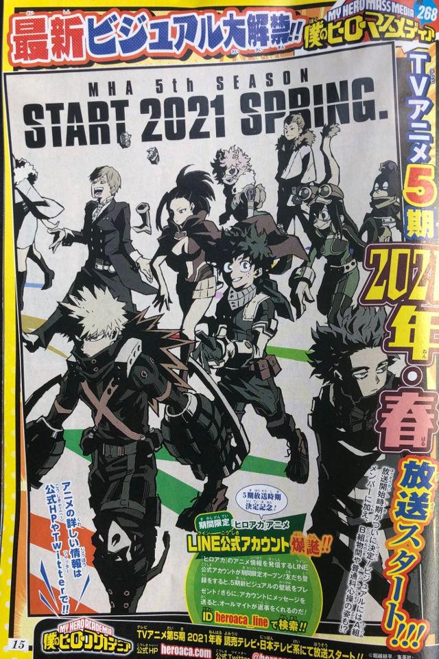 My Hero Academia: La Temporada 5 del anime llegará en primavera