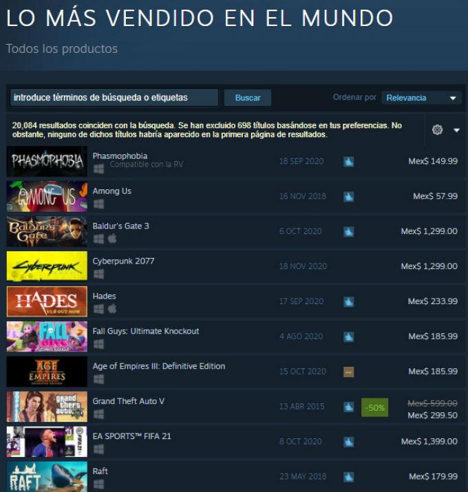 Juegos Populares Steam Among Us