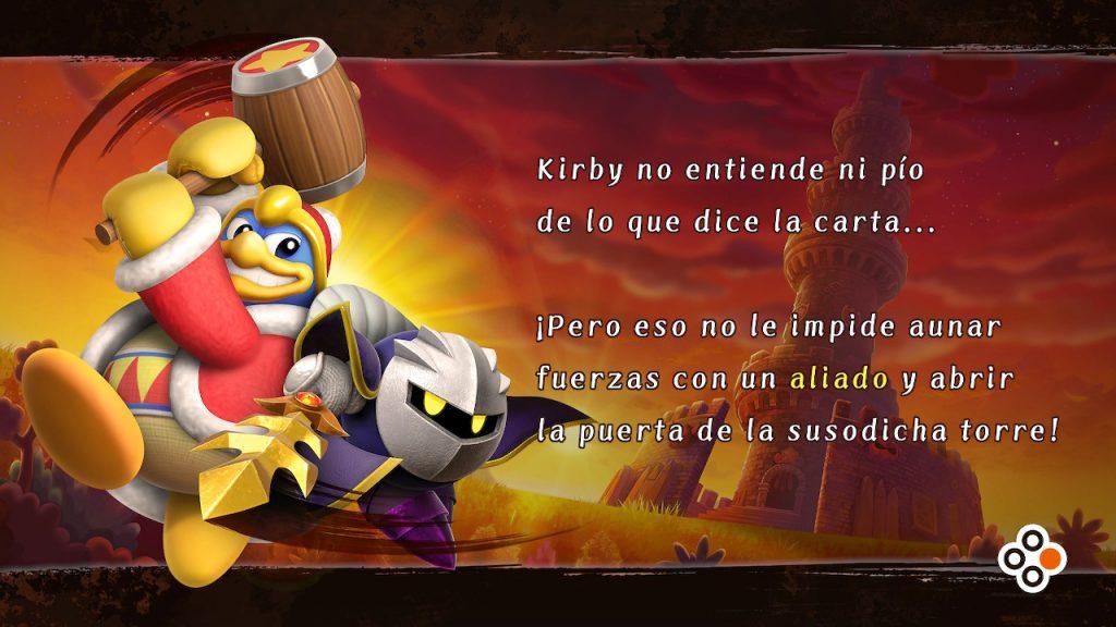Meta Knight y King Dedede en el modo historia de Kirby