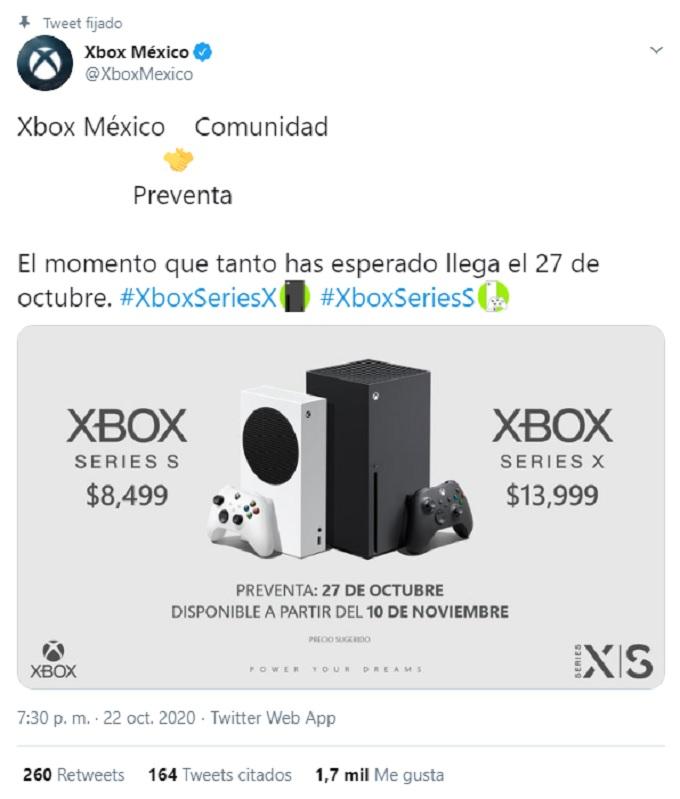 Preventa Xbox Series X Mexico