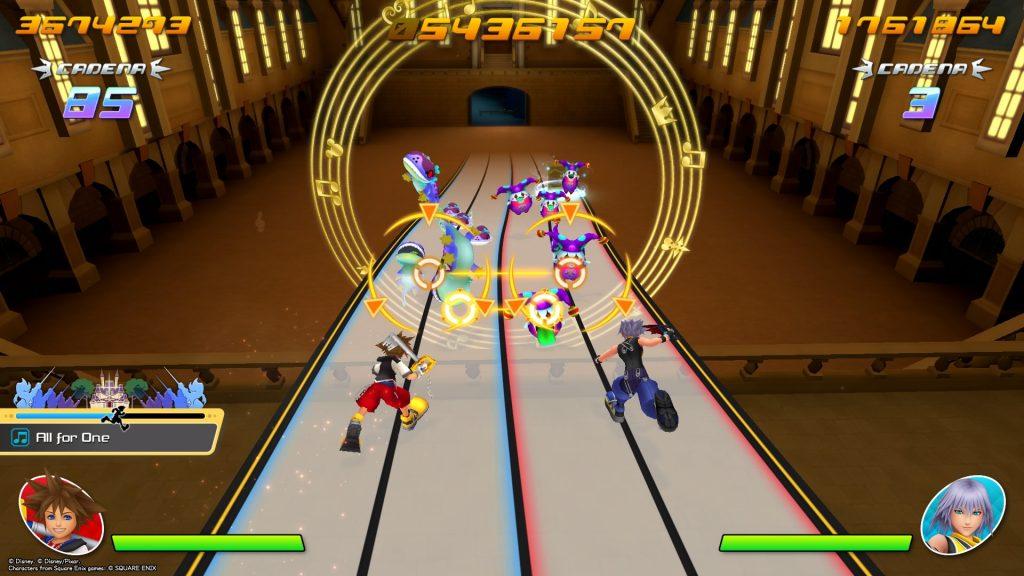 Kingdom Hearts Melody of Memory cooperativo